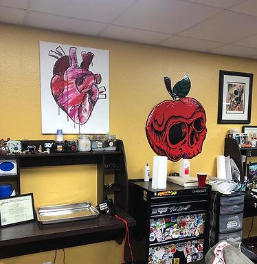 Bad Apple Tattoo Co. Madison, WI Artwork | Ariel's Fine Arts
