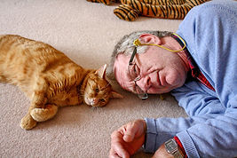 Cat sitter Phil and Gingy