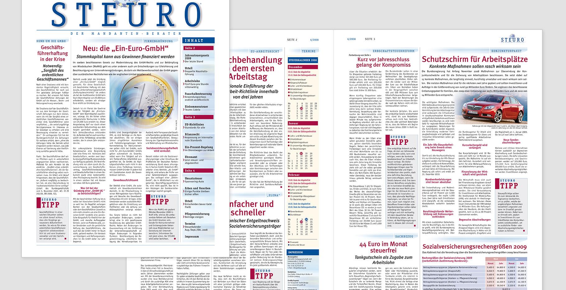 Mandantenberater in Sachen rund um Finanzen und Steuer in Deutschland und Europa