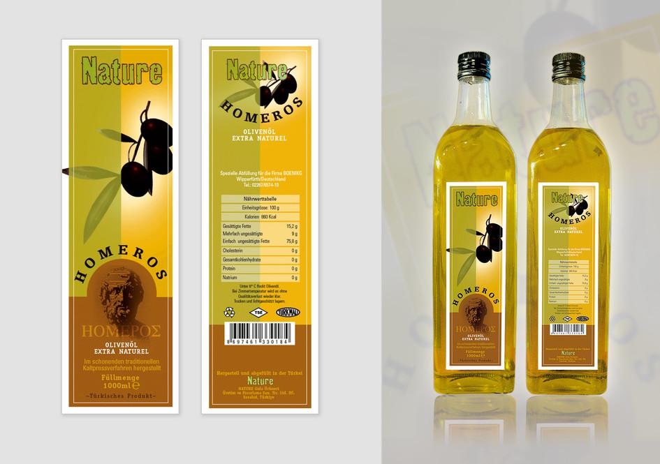 Etikett für Speiseöl