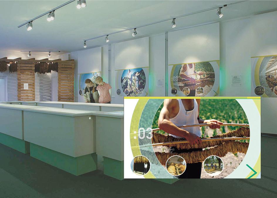Ausstellung – Unternehmensdarstellung der JT International Germany GmbH (Tabakproduzent und Zigarettenhersteller (3/4)