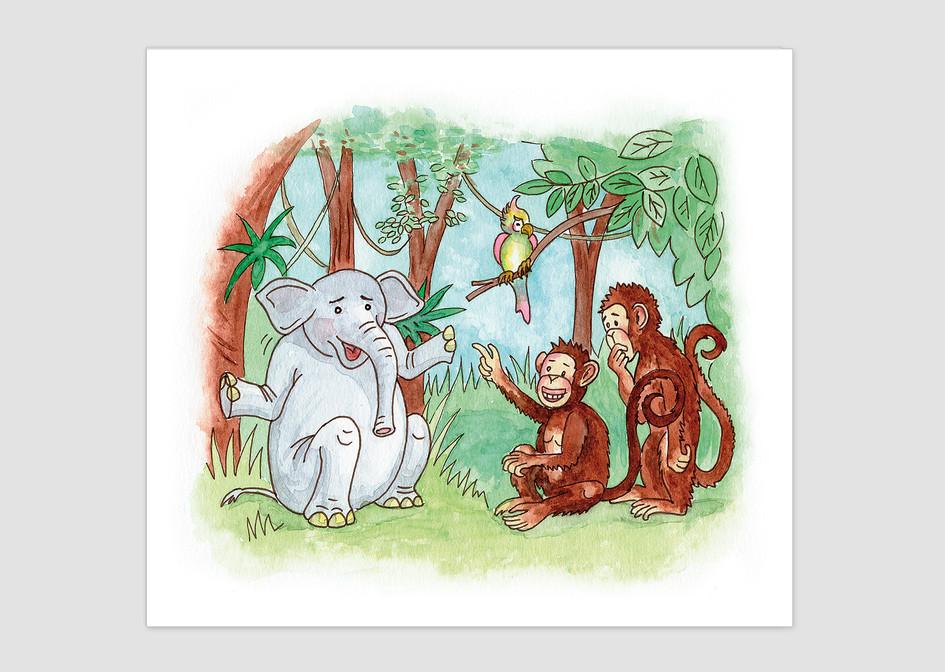 """Kinderliederbuch Titel: """"Die Affen rasen durch den Wald"""""""