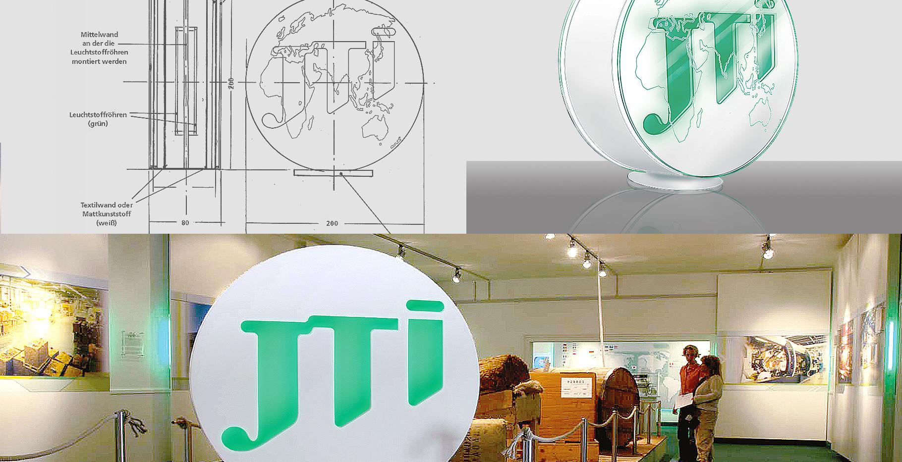 Ausstellung – Unternehmensdarstellung der JT International Germany GmbH (Tabakproduzent und Zigarettenhersteller (1/4)