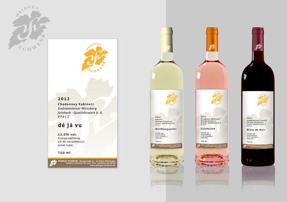 Weinetikett für Weingut Schwenk