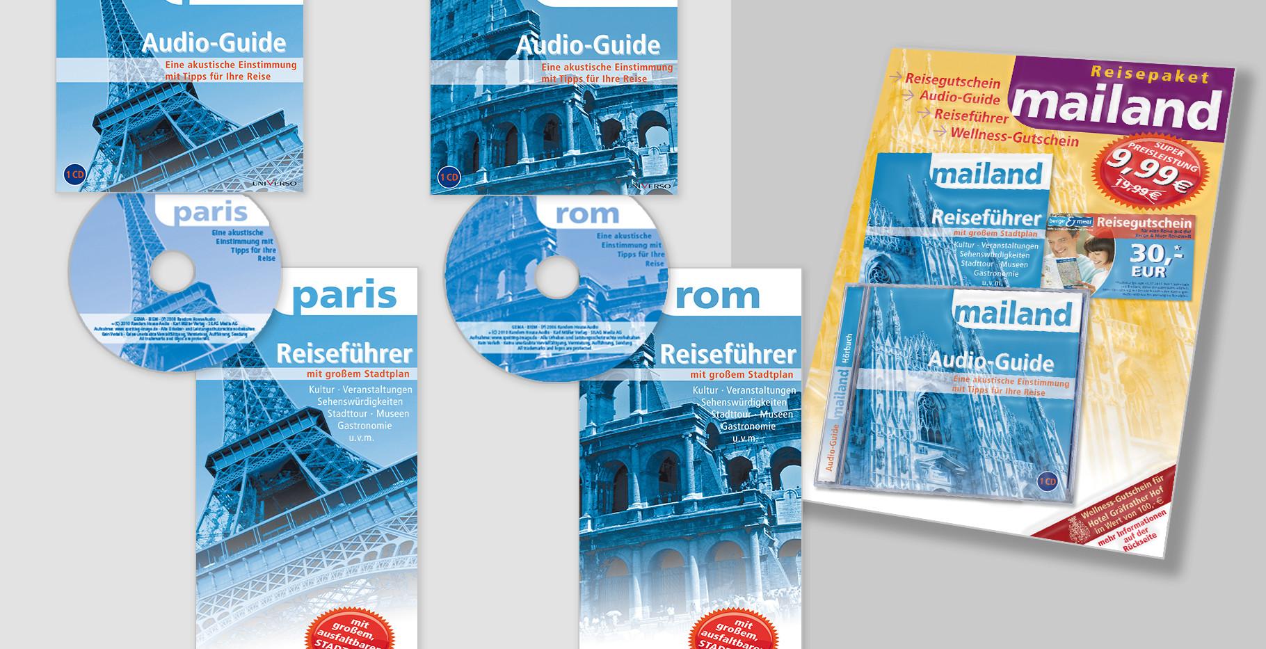 """""""Reisepaket"""" – Blister – Inhalt: Reiseführer inkl. Stadtplan, Audio-Guide - CD-Hörbuch, Reisegutschein, Wellnes-Gutschein"""