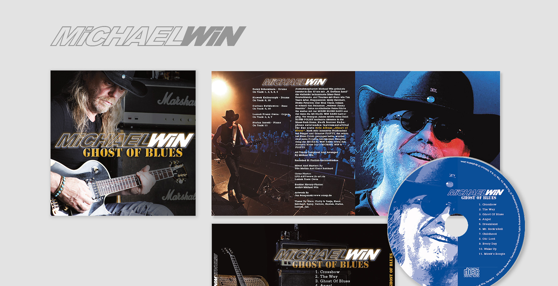"""Michael Win Album –   """"Ghost of Blues"""" (Genre: Rock-Blues)"""