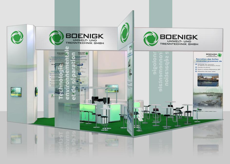 Messestand der Firma Boenigk Umwelt- und Trenntechnik GmbH