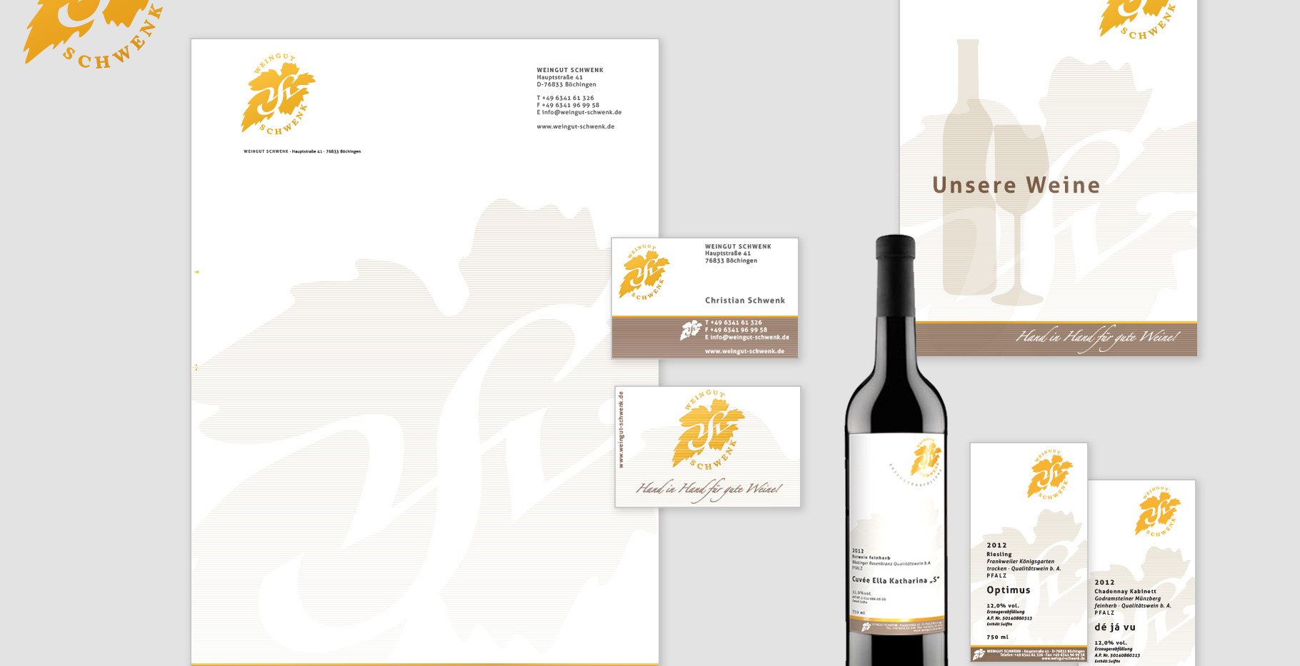 Corporate Identity - Weingut Schwenk