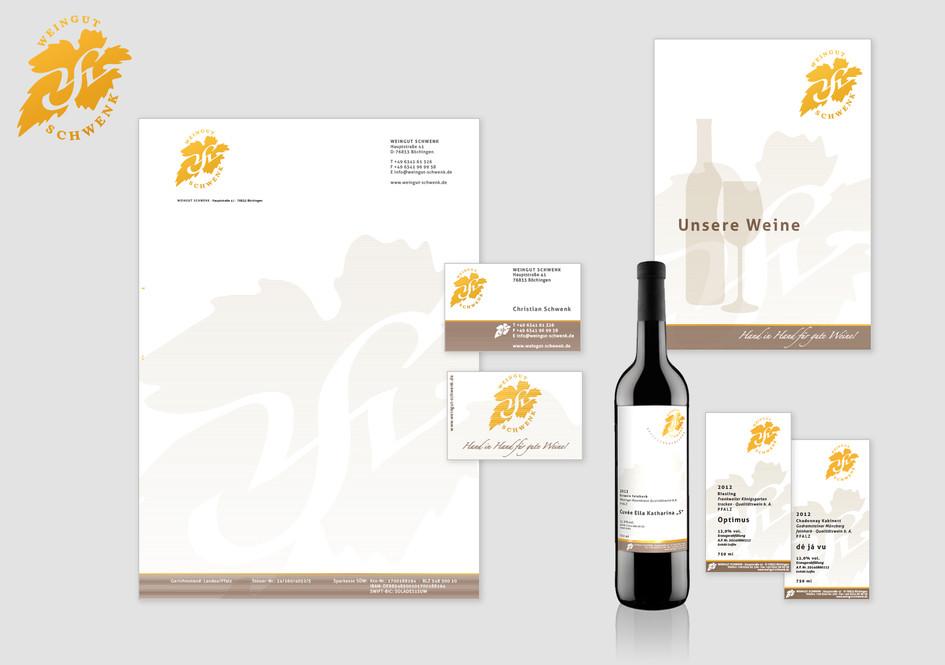 Corporate Identity - Weingut Schwenk