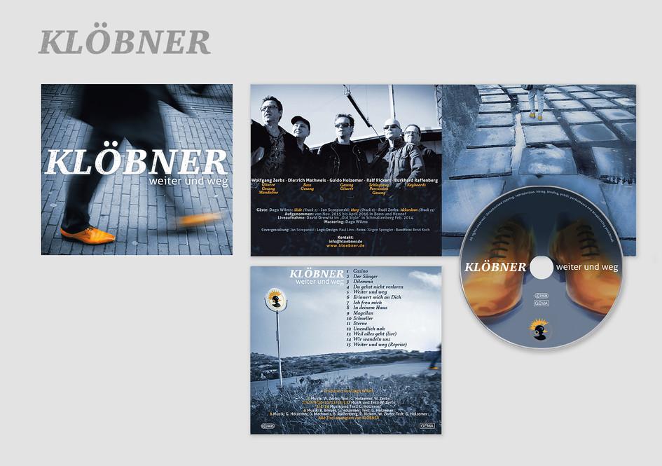 """Klöbner Album –  """"weiter und weg"""" (Genre: Deutsch-Rock)"""