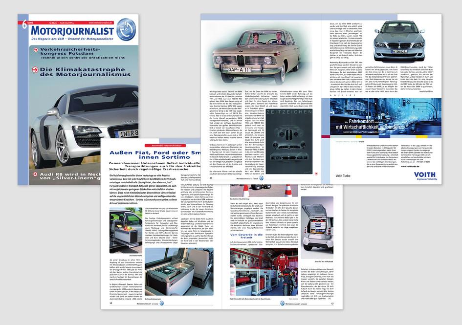 Verbandsmagazin 6 x jährlich für Verbandsmitglieder, nichtorganisierte Autojournalisten, Pressaabteil. der Automobil- u. Zuliefererindustrie