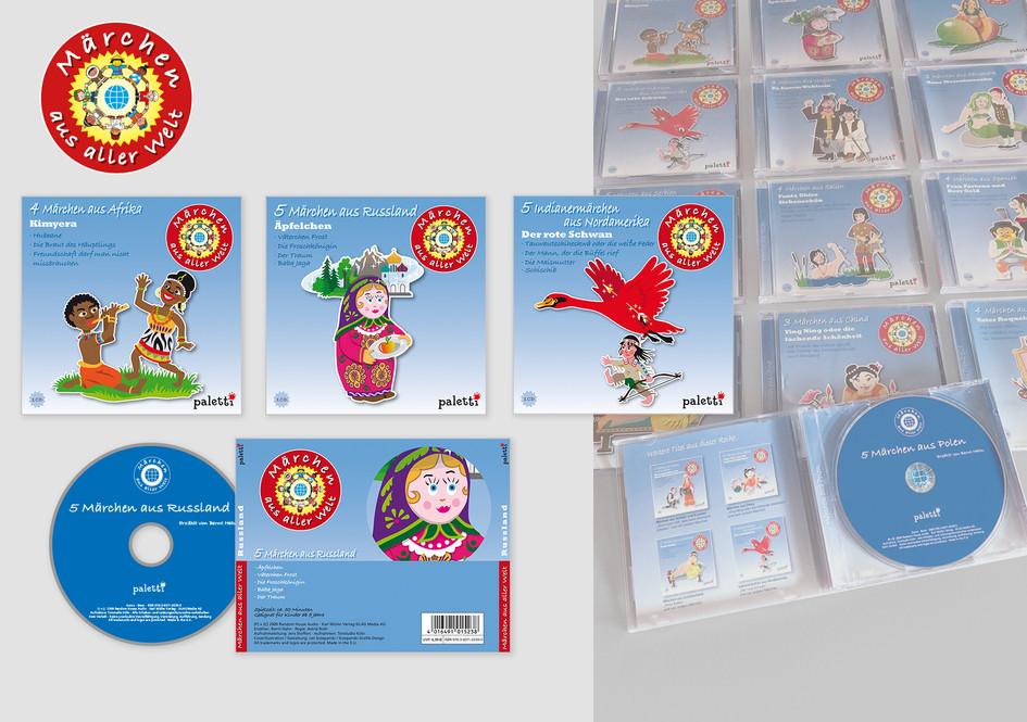 """Cd-Covers Hörbücher """"Märchen aus aller Welt"""""""