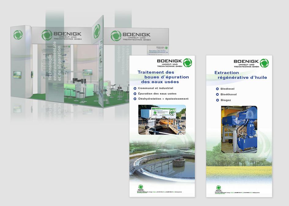 Messestand-Displays der Firma Boenigk Umwelt- und Trenntechnik GmbH