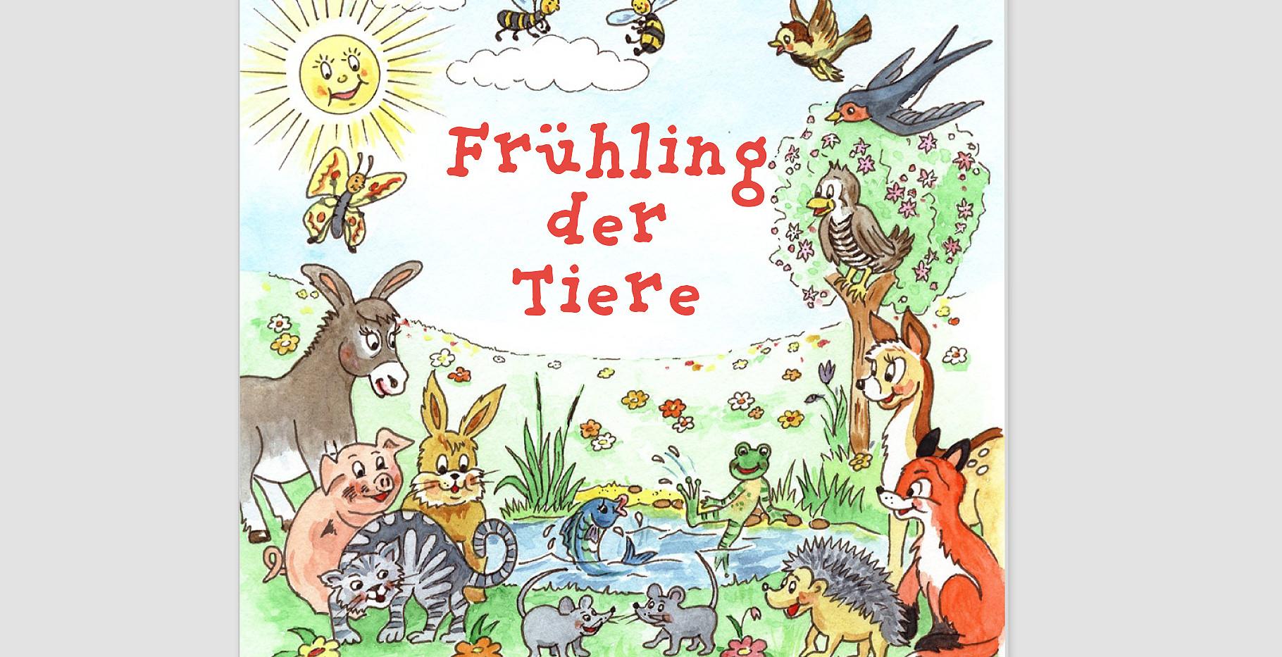 "Kinderbuchtitel ""Frühling der Tiere"""