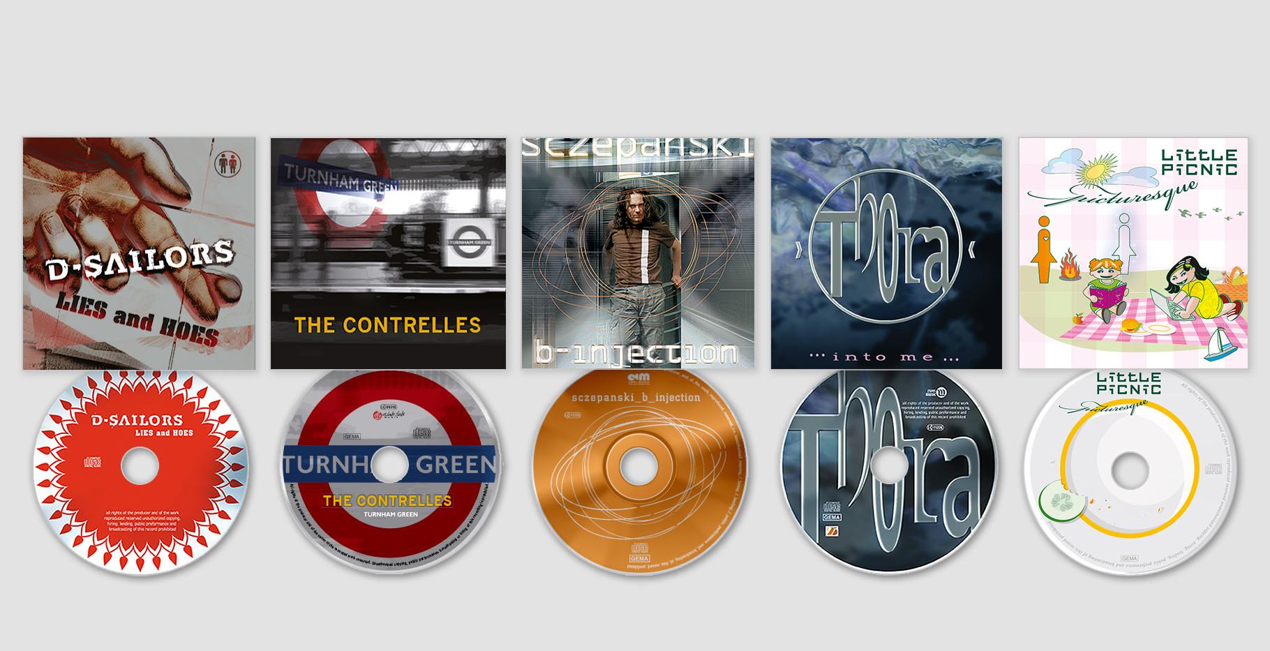Verschiedene Covers und Labels