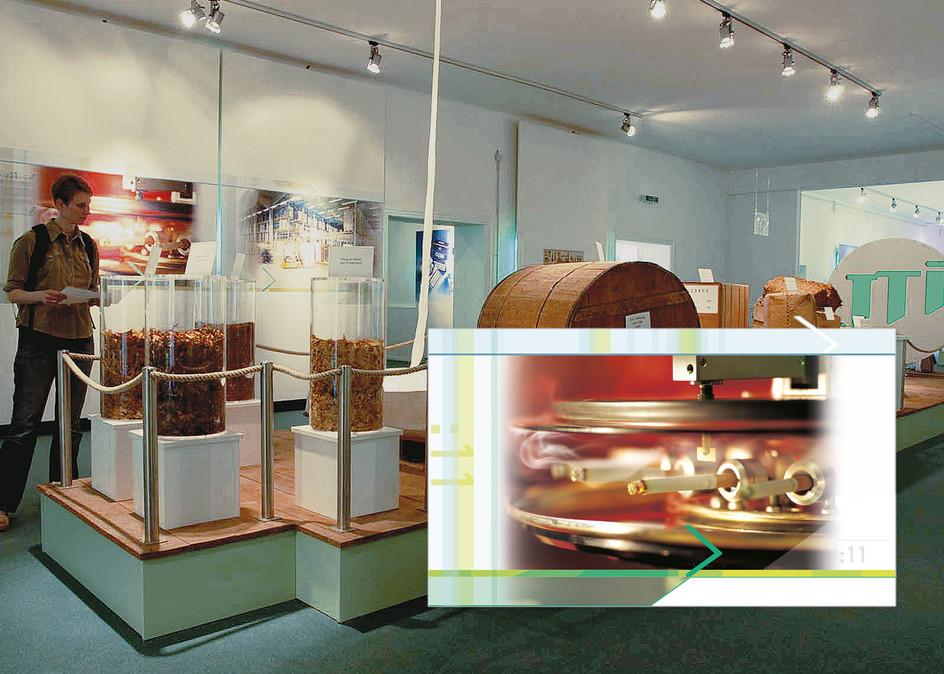 Ausstellung – Unternehmensdarstellung der JT International Germany GmbH (Tabakproduzent und Zigarettenhersteller (2/4)