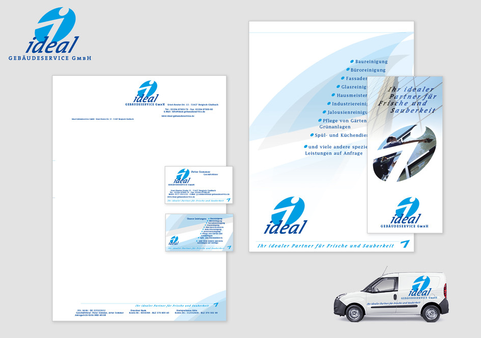 Corporate Identity - IDEAL Gebäudeservice GmbH