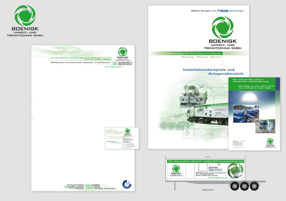 Corporate Identity - BOENIGK Umwelt- und Trenntechnik GmbH