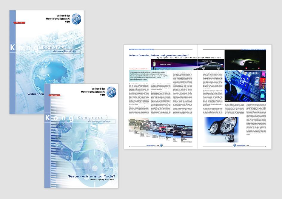 Kongressbroschüre zur  Jahresversammlung des Verbandes der Motorjournalisten e.V.