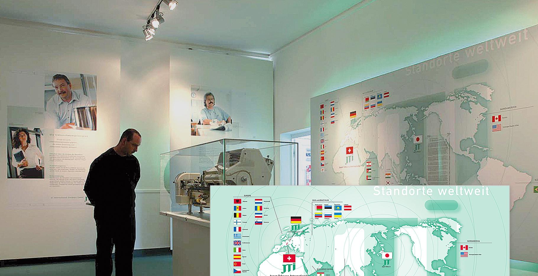 Ausstellung – Unternehmensdarstellung der JT International Germany GmbH (Tabakproduzent und Zigarettenhersteller (4/4)