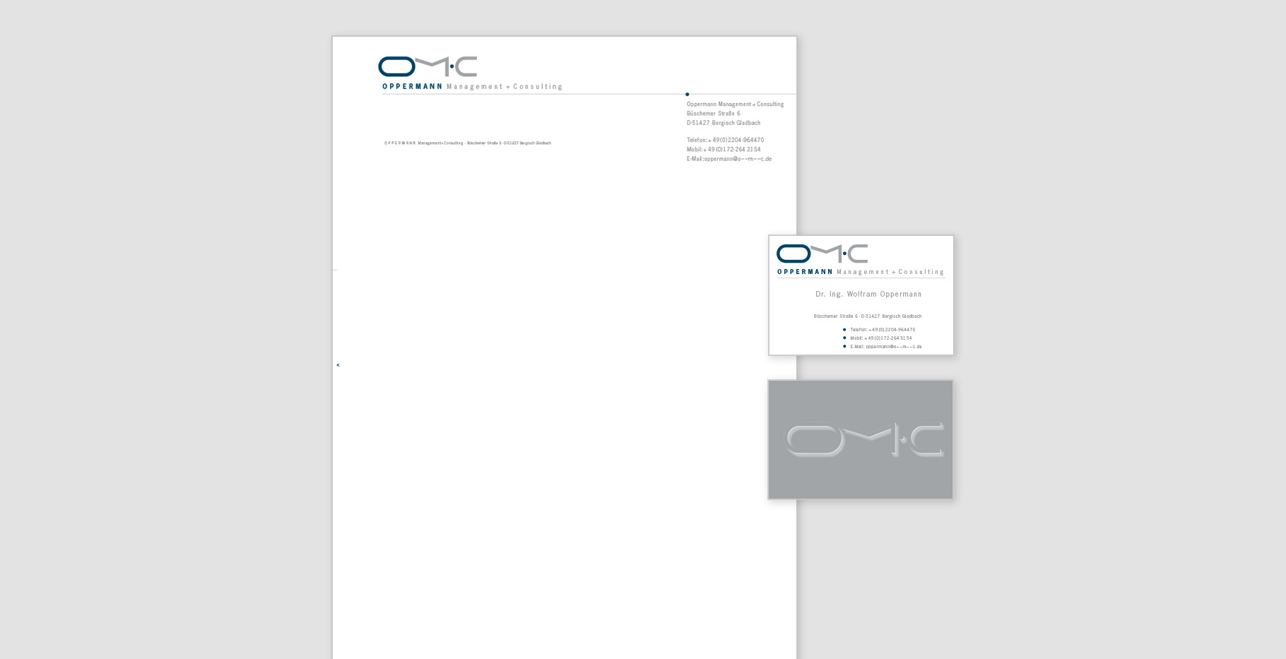 Corporate Identity - Oppermann Management + Consulting