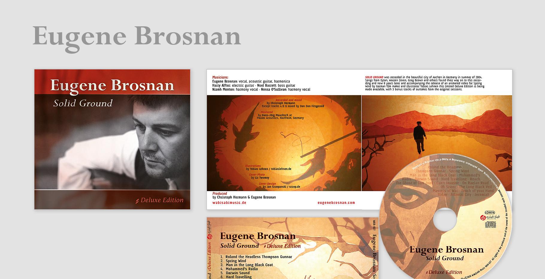 "Eugene Brosan Album –  ""Solid Ground"" Edition: Deluxe (Genre: Singer Songrwriter)"