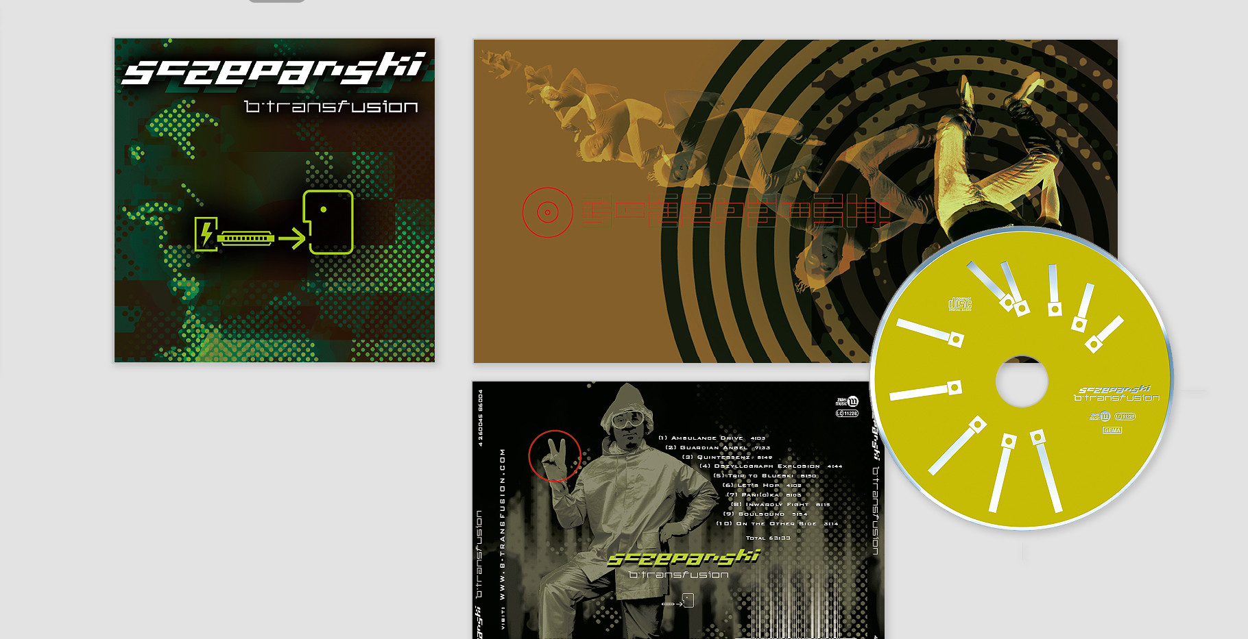 "Sczepanski Album –  ""b-transfusion"" (Genre: Elektro-Jazz-Fusion)"