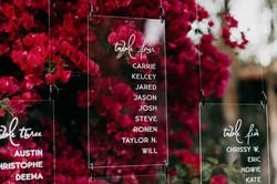 acrylic seating chart, la wedding, los angeles wedding, green wedding shoes, los angeles florist, sh