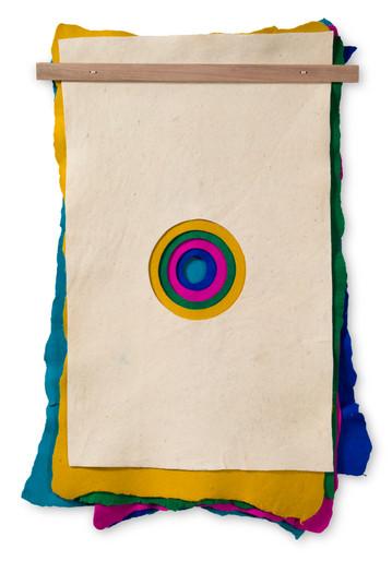 Alberto Casari Sem título, 2013  feltro de lã e madeira  120 x 85 cm
