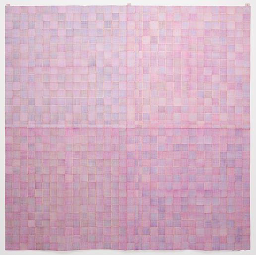 Célio Braga Arroxeado, 2014  Lápis de cor sobre papel dobrado  150 cm x 150 cm
