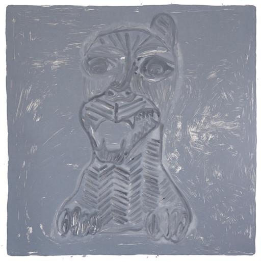 Adriana Moreno Pedra, 2020 Monotipia sobre papel filtro neutro 250g  100x100cm