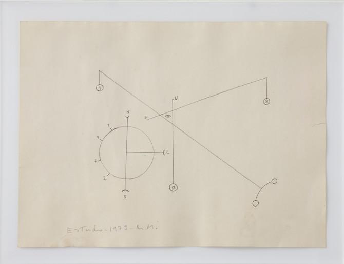 Montez Magno Esquema, 1972 Grafite sobre papel 21,5 x 30cm