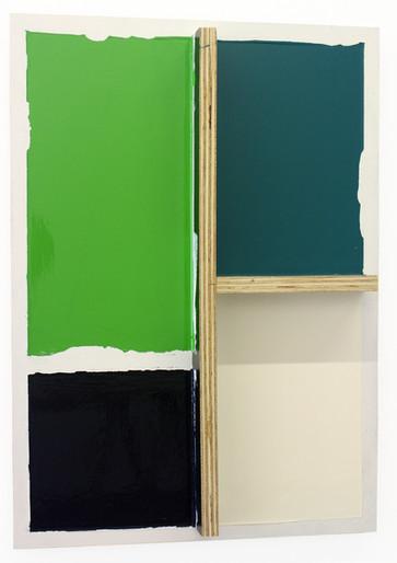 Ricardo Alcaide Structural Absence, 2014 Pintura Automotiva s MDF 60 X 43 X 6 cm
