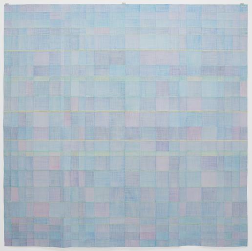 Célio Braga Azulado, 2013  Lápis de cor sobre papel dobrado  150 cm x 150 cm