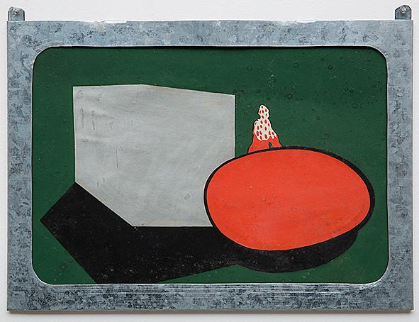 Marcello Nitsche Sem Título 1967 Nanquim e guache sobre papel 37 x 51,5 cm (moldura de autoria do artista)
