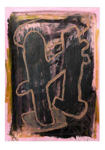 Gustavo Ferro Sem Título, 2020 Óleo sobre papel 297 x 420 mm