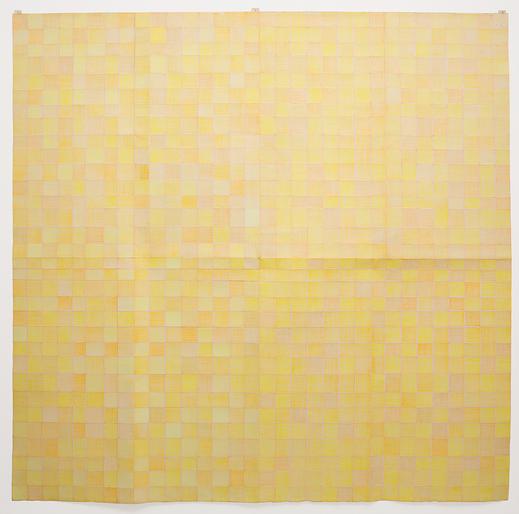 Célio Braga Amarelado, 2013  Lápis de cor sobre papel dobrado 150 cm x 150 cm