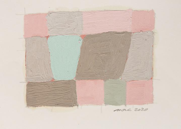 Moracy Almeida Lumen Opacatum, 2020 Óleo sobre papel 21,0 x 29,7 cm Créditos: Pregnolato & Kusuki Estúdio Fotográfico