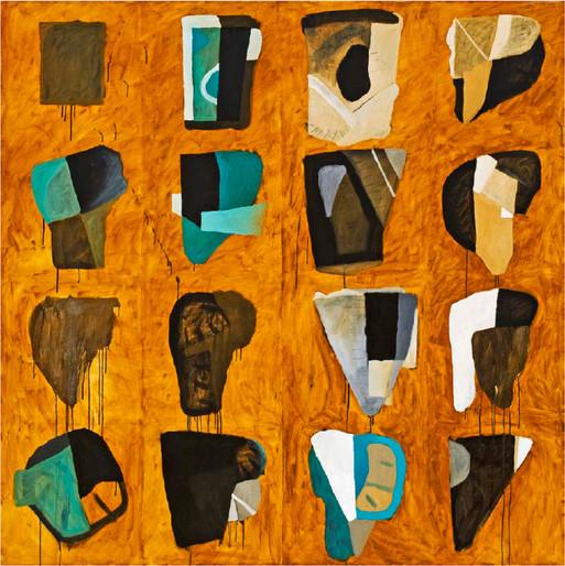 Antonio Malta  Sem Título, 2007  Óleo sobre tela  160 x 160 cm