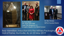 Bob Vermillion is inducted in the Military Packaging Hall of Fame
