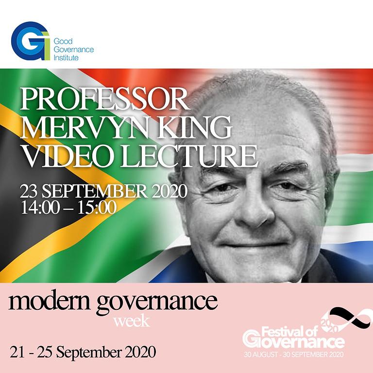 Professor Mervyn King video lecture