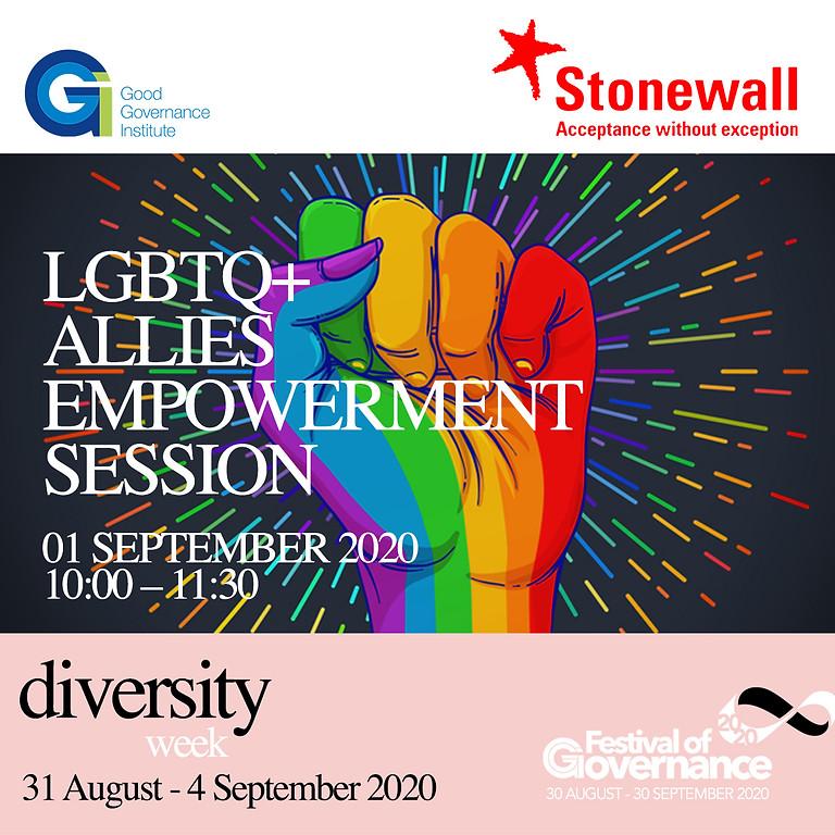 Stonewall LGBTQ+ Allies Empowerment Session