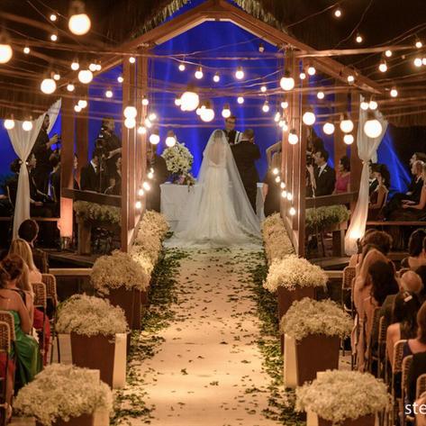Varal de Luzes, muito usado em casamentos