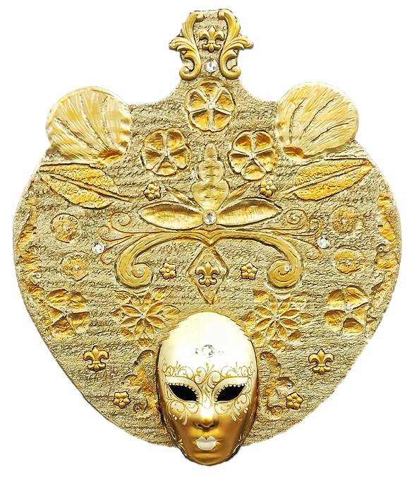 Hand-carved wooden venetian mask.