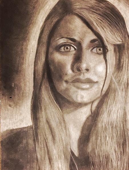 Self portrait via charcoal medium.