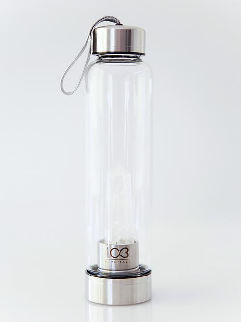 Kristal Su Şişesi | Kristal Kuvars - Metallik Gri