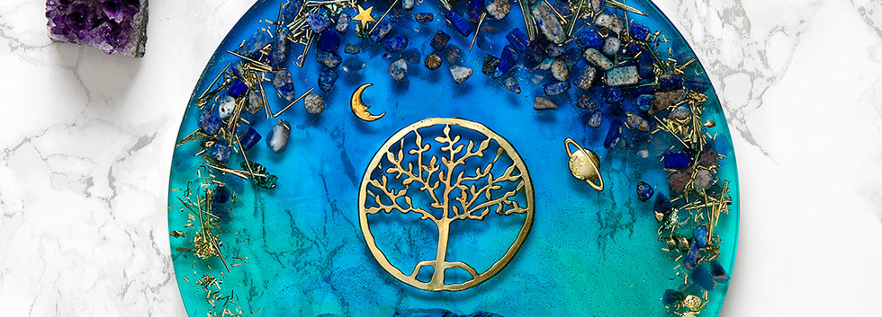 Recinart | Hayat Ağacı Büyük Sunum Tepsisi