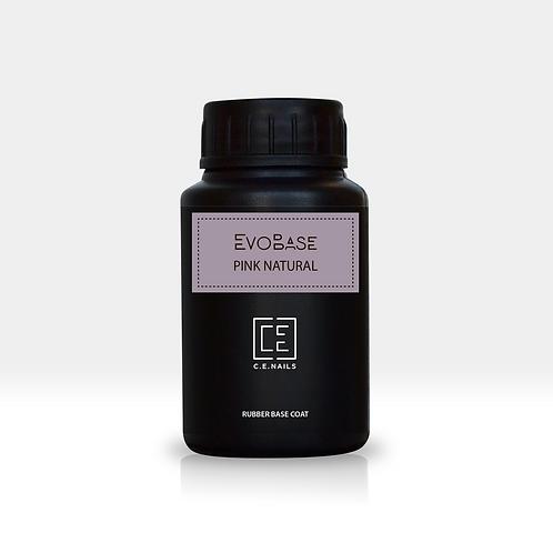 Темно-розовое базовое покрытие EvoBase Pink Natural без кисти, 30 мл