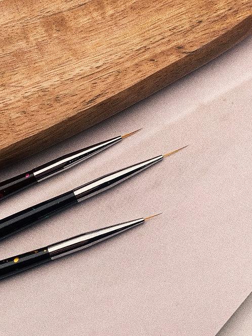 Набор кистей для тонких линий (точки), 3 шт