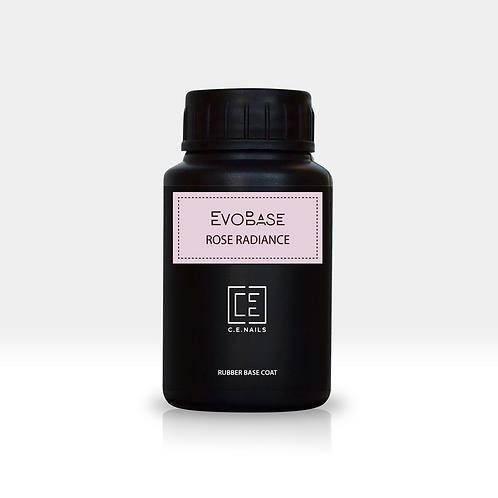 Розовое с шиммером базовое покрытие EvoBase Rose Radiance без кисти, 30 мл
